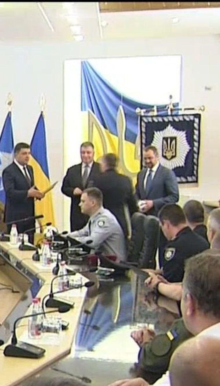 Правоохранителей наградили за успешное проведение финала Лиги чемпионов в Киеве