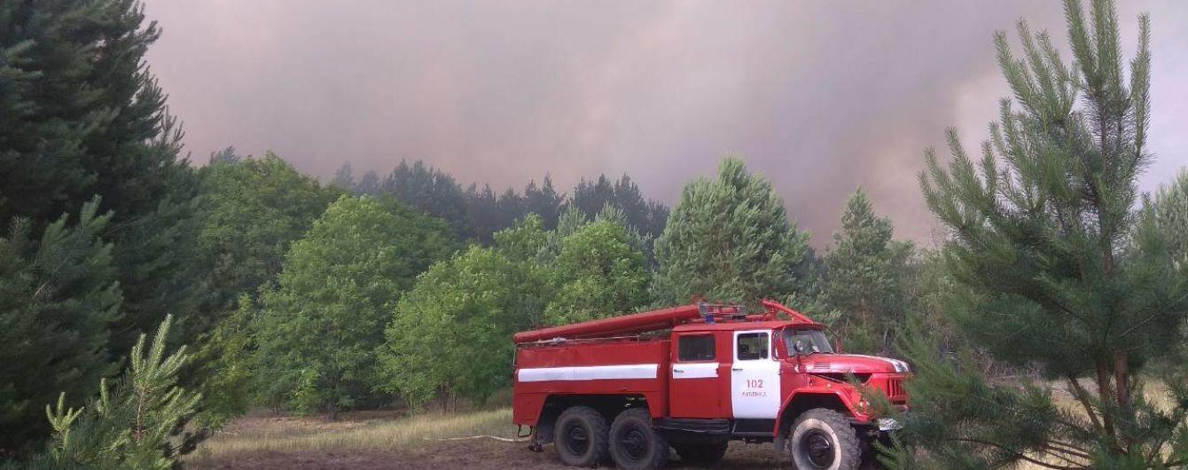 Площа пожежі у Чорнобильській зоні зменшилася вдвічі - рятувальники