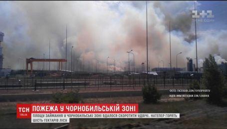 Площадь возгорания в Чернобыльской зоне удалось сократить вдвое
