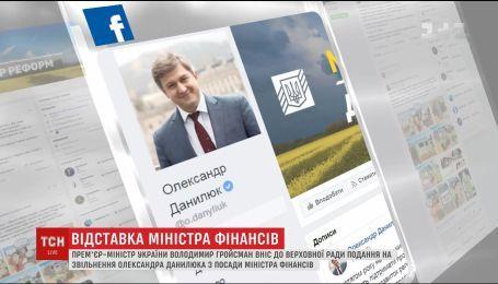 Гройсман внес в ВР представление на увольнение Данелюка с должности министра финансов