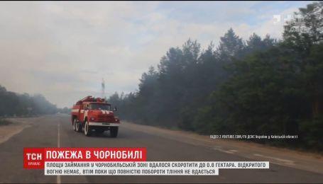 Рятувальникам досі не вдається ліквідувати пожежу у Чорнобилі