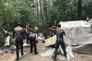 Нацдружини знищили табір ромів у Голосіївському парку