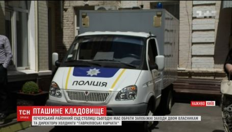 Жители Гавриловки уже пять часов пикетируют под Печерским судом