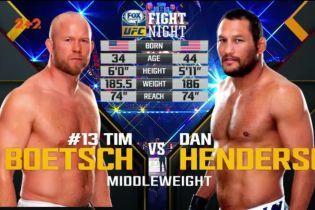 UFC. Дэн Хендерсон - Тим Боетш. Видео боя