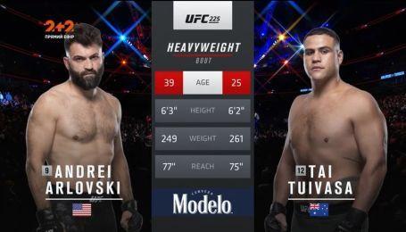 UFC 225. Андрей Орловский - Тай Туиваса. Видео боя