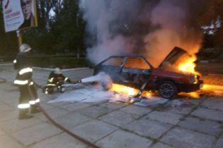 В Херсонской области сообщили о возгорании автомобиля