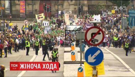 Женщины Британии отметили столетие получения права голоса масштабным митингом