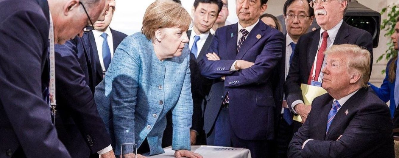 Трамп прокоментував фотографію з Меркель, яка викликала бурхливу реакцію в Мережі