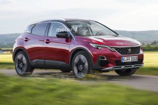 Новичок в сегмент кроссоверов: дизайнеры пофантазировали о Peugeot 1008
