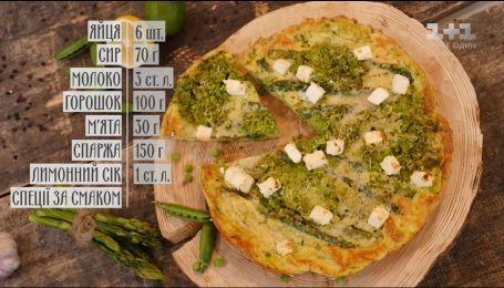 Фритатта с молодым горошком - рецепты Сеничкина