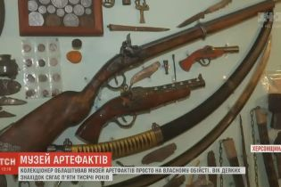 Житель Херсонщины открыл интерактивный музей артефактов в собственном дворе