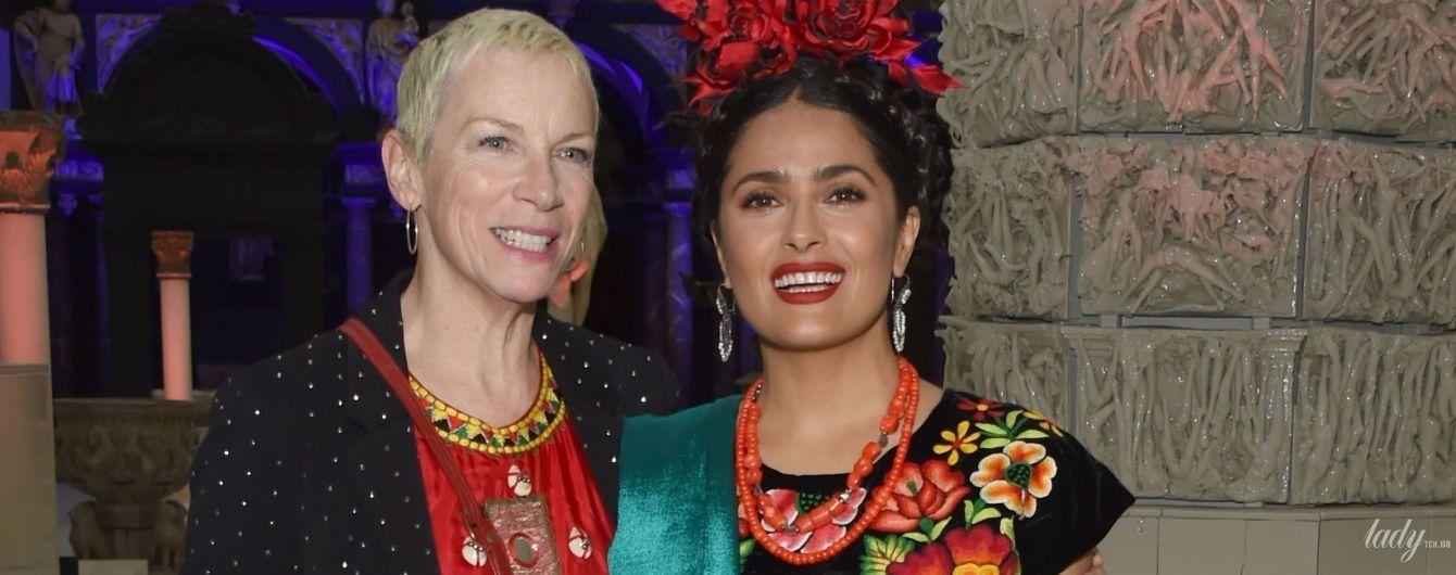 Очень эффектно: Сальма Хайек пришла на вечеринку в образе Фриды Кало