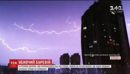 Один человек погиб и еще один травмирован: на Киевщине пронесся ураган