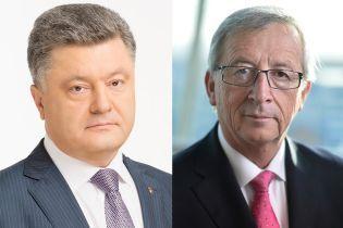 Порошенко обсудил с президентом Еврокомиссии подготовку к юбилейному саммиту Украина-ЕС