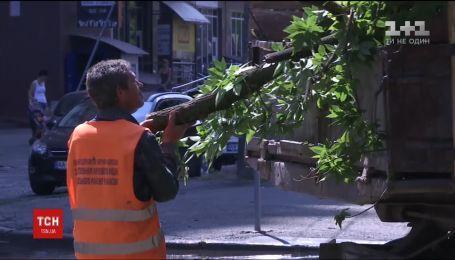 Обесточенные села и одна смерть: последствия урагана на Киевщине