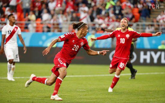 Данія перемогла Перу, ще один пенальті призначили після відеоповтору