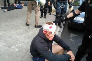 """28 затриманих і багато травмованих: націоналісти заявляють про розгін акції протесту проти """"КиївПрайду"""""""