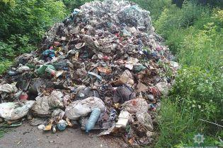 На Чернігівщині вантажівка просто посеред села вивалила 12 тонн львівського сміття