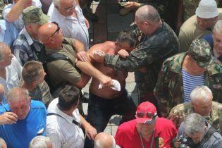 У поліції повідомили про перших постраждалих та затриманих унаслідок сутички під Радою