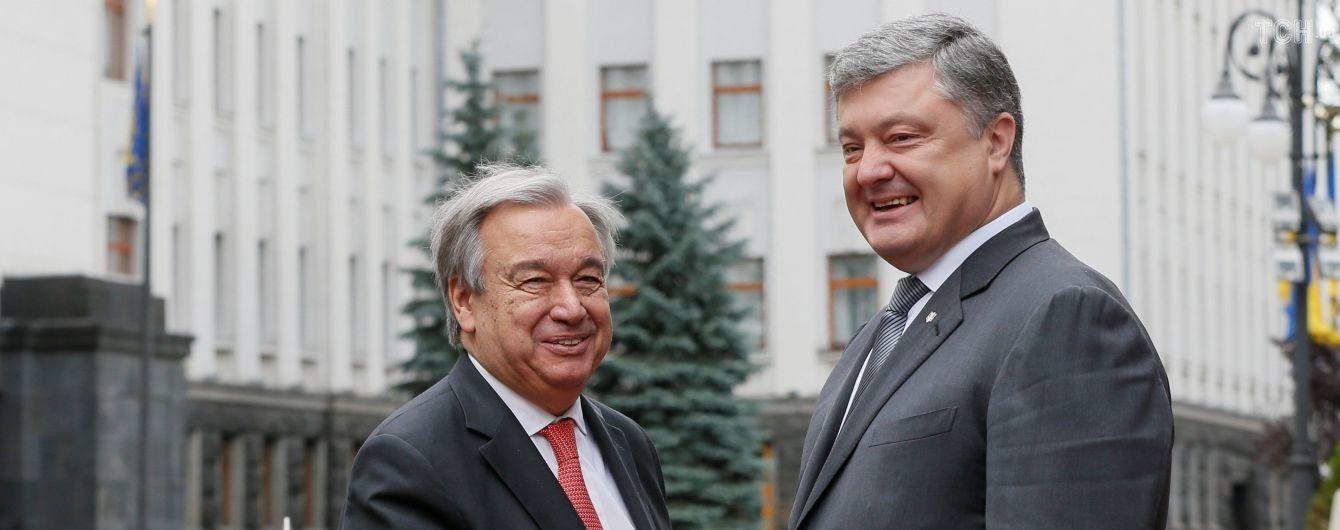 Стало известно, о чем Порошенко по телефону говорил с генсеком ООН