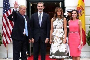 Стильная королева Летиция и эффектная Мелания Трамп: знаменитые дамы порадовали красивыми образами