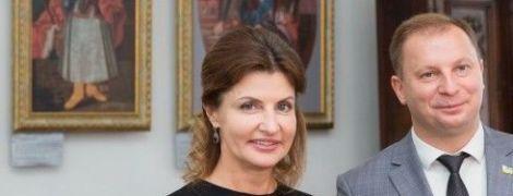Марина Порошенко в платье с вышивкой посетила старинный дворец в Тернопольской области