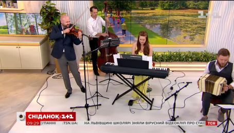 """Віртуозний гурт Kiev Tango Project з новою програмою у """"Сніданку з 1+1"""""""