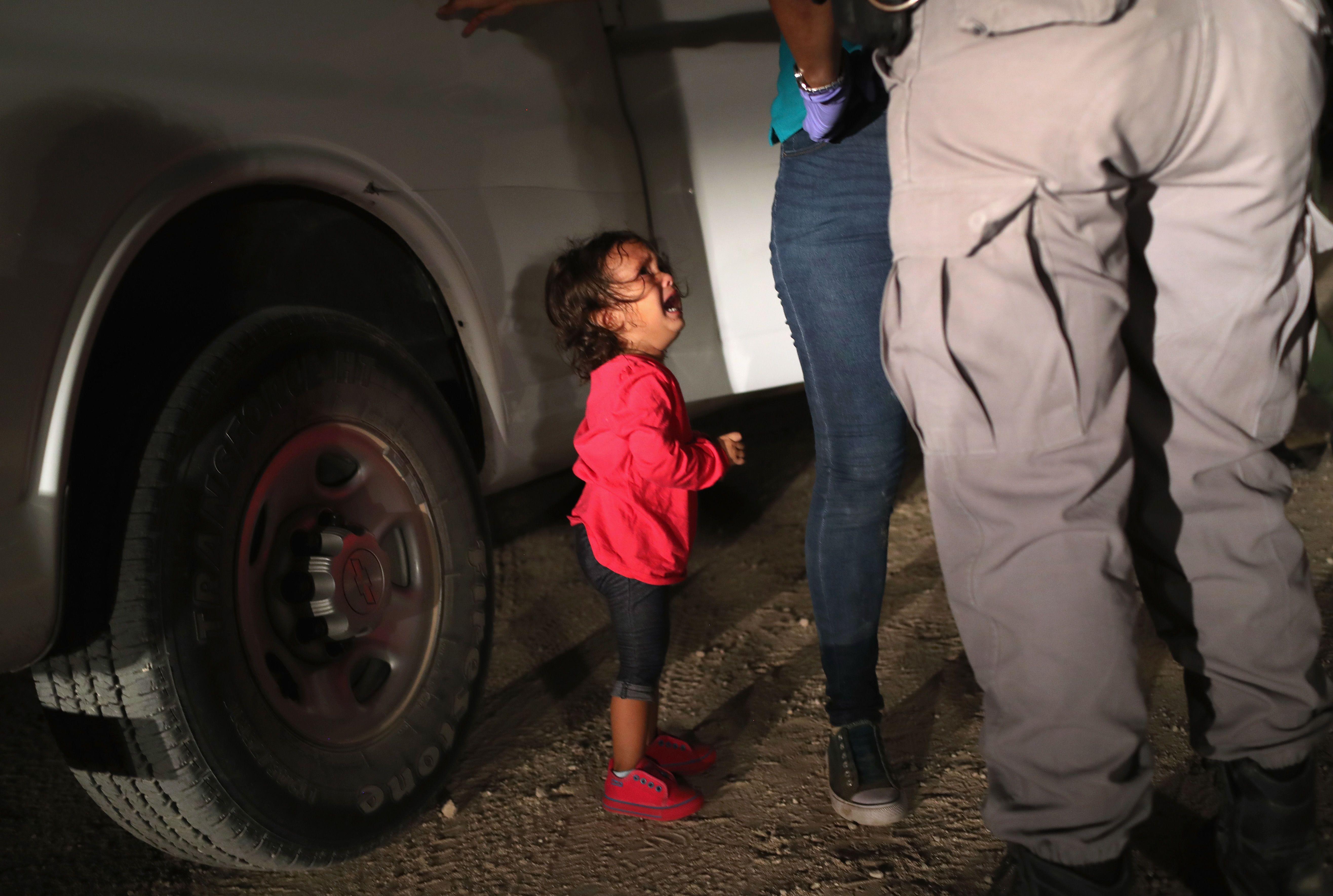 Дівчинка-мігрантка з Гондурасу у США
