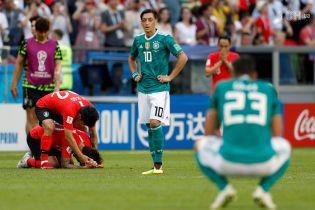 Сборная Германии впервые в истории не сумела преодолеть групповой этап Чемпионата мира