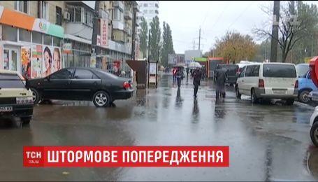 Жители Полтавской и Днепропетровской областей уже ощутили на себе силу мощной грозы и града