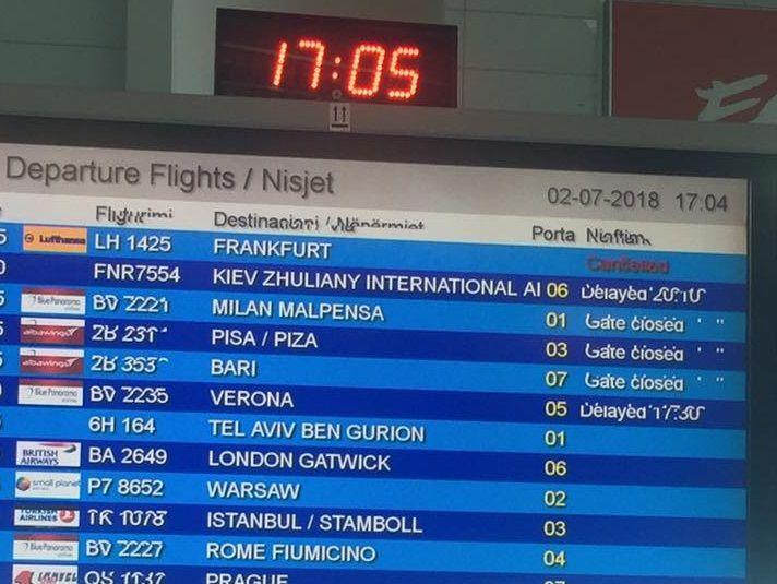 Затримка рейсу, Албанія