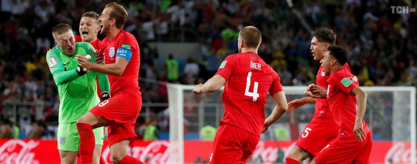 Збірній Англії підкорилося цікаве досягнення у матчі 1/8 фіналу ЧС-2018