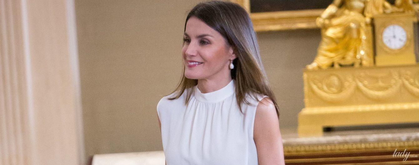 Как всегда, элегантна: королева Летиция на торжественном мероприятии