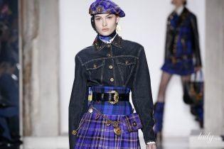 Шотландская тема в коллекции Versace прет-а-порте сезона осень-зима 2018-2019