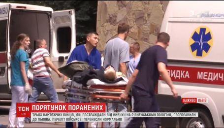 Жизни раненых на Ровенском полигоне спасают во Львове