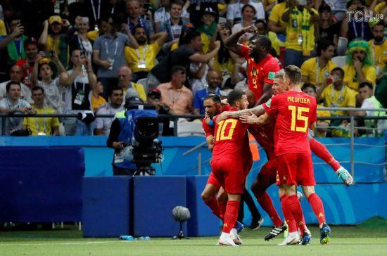 Бельгія несподівано переграла Бразилію та вперше з 1986 року вийшла до півфіналу ЧС