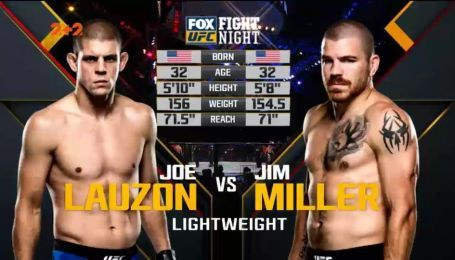 UFC. Джо Лозон – Джим Міллер. Відео бою