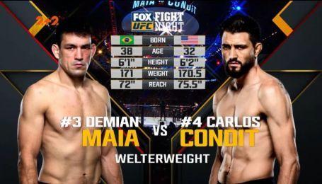 UFC. Деміан Майя – Карлос Кондіт. Відео бою