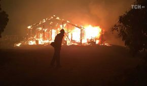 Лісові пожежі у Каліфорнії перекинулись на житлові будинки та вбили людину