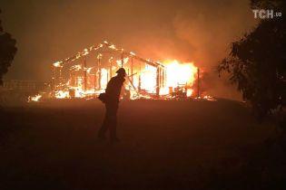 Лесные пожары в Калифорнии перекинулись на жилые дома и убили человека