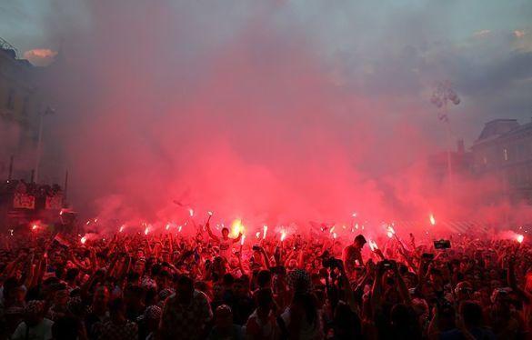 Загреб, святкування виходу до півфіналу ЧС