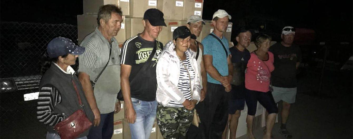 На оккупированные территории пытались незаконно вывезти товаров на миллионные суммы