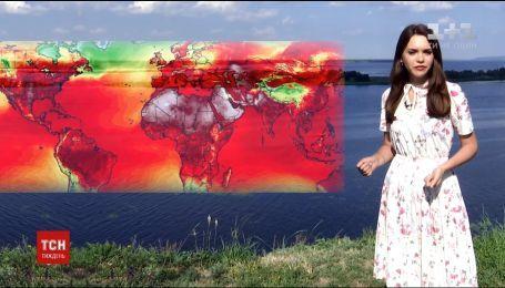 Кліматологи опублікували карту з найбільш гарячими точками планети станом на початок червня