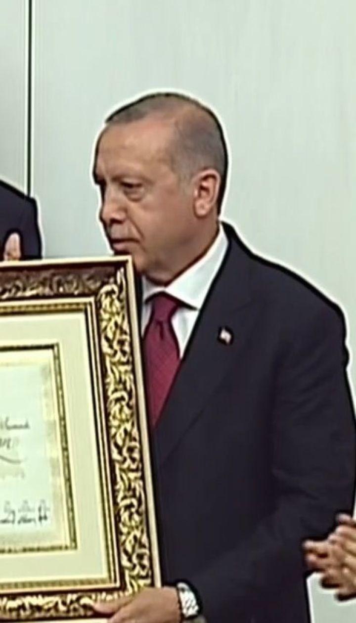 Эрдоган официально вступил в должность президента Турции