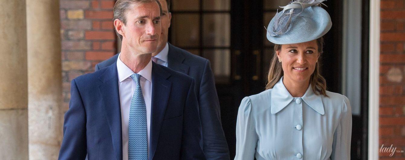У лаконічній та дорогій сукні: Піппа Міддлтон на церемонії хрещення принца Луї Кембриджського