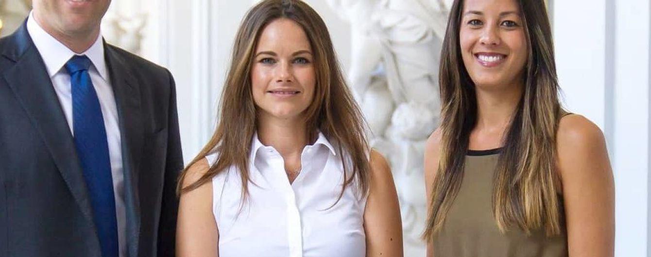 В деловом образе: шведская принцесса София на приеме во дворце