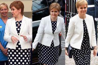 Зачем она это делает: первый министр Шотландии Никола Стерджен снова надела платье в горох