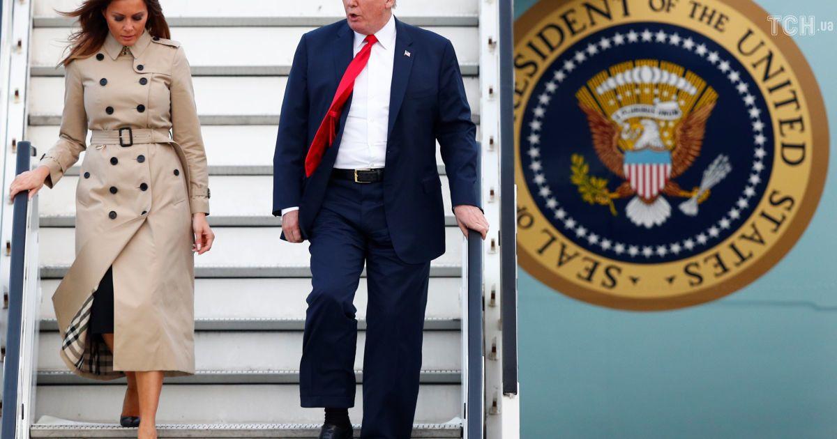 Борт № 1: Трамп с супругой прибыл в Брюссель