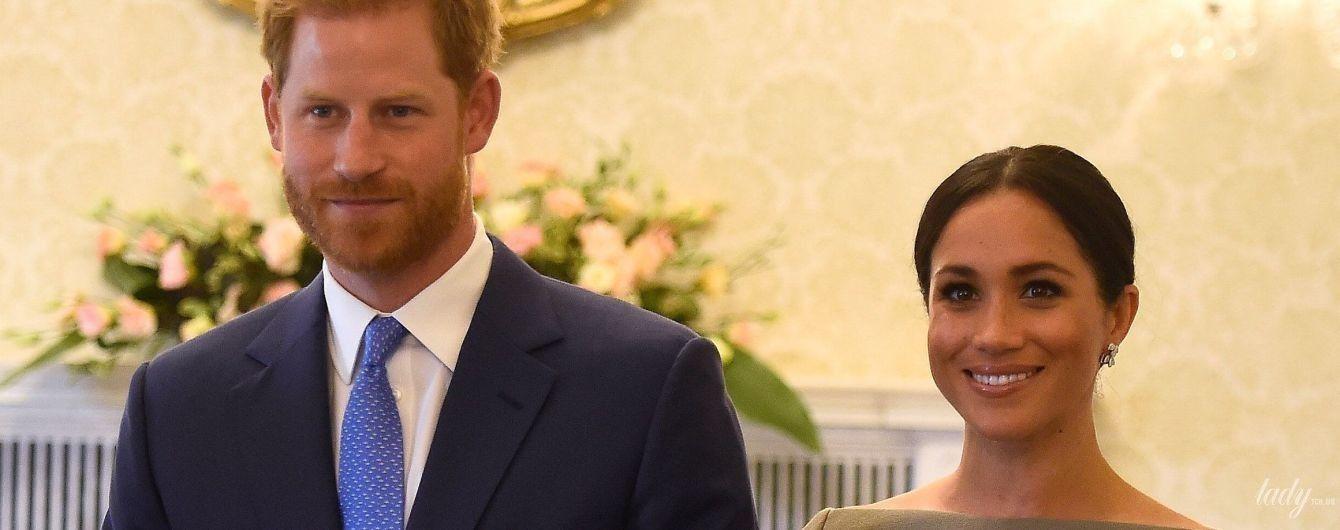 Новий образ від Roland Mouret: герцогиня Сассекська Меган і принц Гаррі зустрілися з президентом Ірландії
