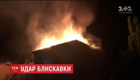 Молния уничтожила школу в Одесской области